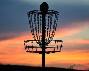 Disc golf at Dawn AND Dusk is a beautiful thing!
